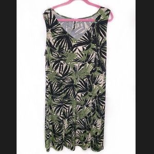 JULIÁN TAYLOR Palm Tree Sleeveless Dress - 16W